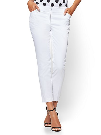 7th Avenue Pant - Ankle - Modern - White - New York & Company