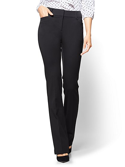 7th Avenue Pant - Bootcut - Modern - Black - Tall  - New York & Company