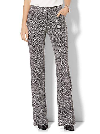 7th Avenue Pant - Bootcut - Modern - Black & White  - New York & Company
