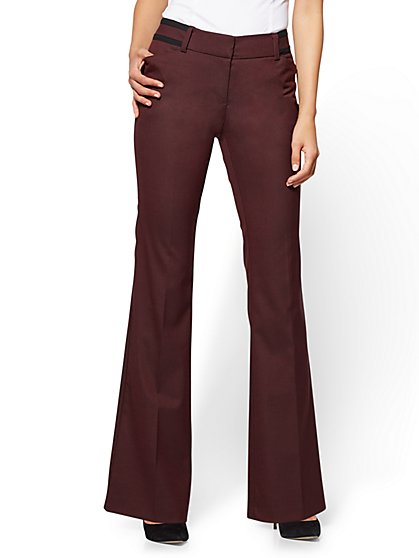 7th Avenue Pant - Bootcut - Modern - Burgundy - New York & Company