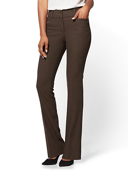 7th Avenue Pant - Bootcut - Modern - Dark Brown - Petite  - New York & Company