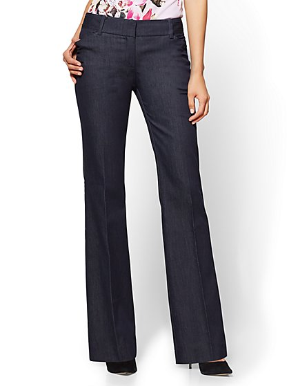 7th Avenue Pant - Bootcut - Modern - Hidden Blue - Petite - New York & Company