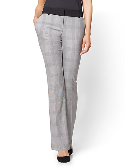 7th Avenue Pant - Bootcut - Modern - Houndstooth Print - New York & Company