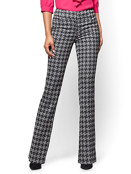 7th Avenue Pant - Bootcut - Modern – Houndstooth - New York & Company