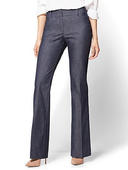 7th Avenue Pant - Bootcut - Modern - Navy - Petite - New York & Company
