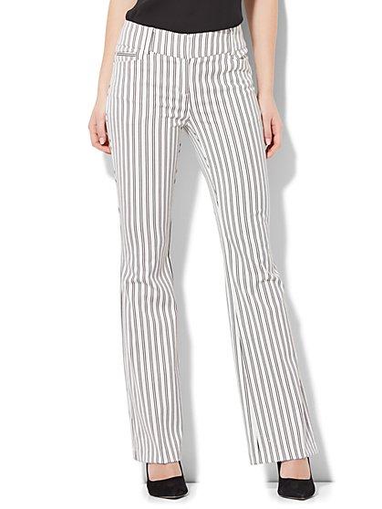 7th Avenue Pant - Bootcut - Modern - Stripe - New York & Company