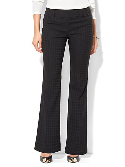 7th Avenue Pant - Bootcut - Modern - Tonal Plaid - New York & Company