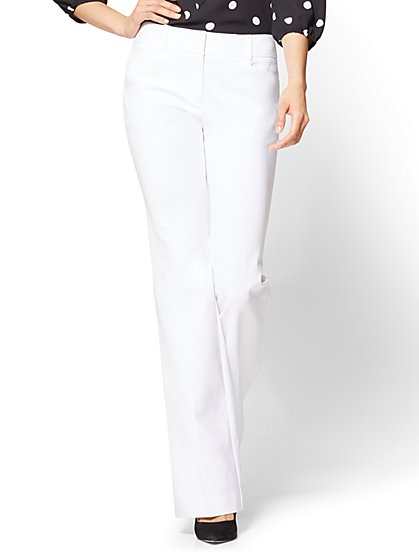 7th Avenue Pant - Bootcut - Signature - All-Season Stretch - White - New York & Company
