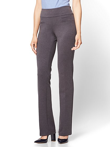 7th Avenue Pant - Bootcut - Signature - Grey - Petite - New York & Company