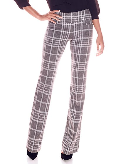 7th Avenue Pant - Bootcut - Signature - Grey Plaid - New York & Company