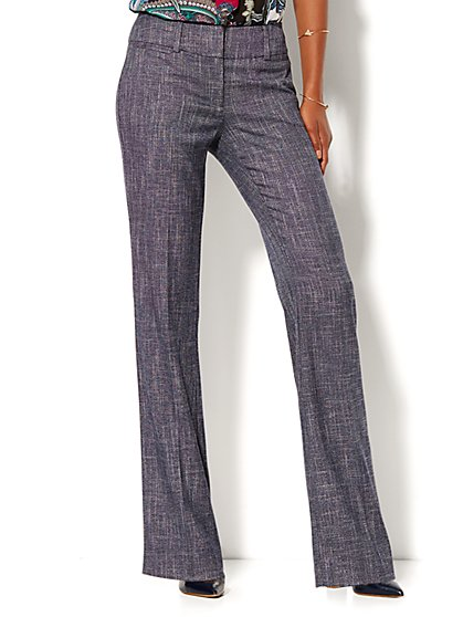 7th Avenue Pant - Bootcut - Signature - Grid Print - New York & Company