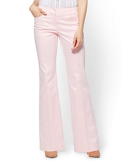 7th Avenue Pant - Bootcut - Signature - Pink - New York & Company