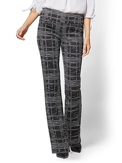 7th Avenue Pant - Bootcut - Signature - Pull-On - Plaid - New York & Company