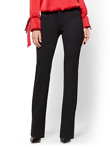 7th Avenue Pant - Bootcut - Signature - Pull-On - Ponte - Tall - New York & Company