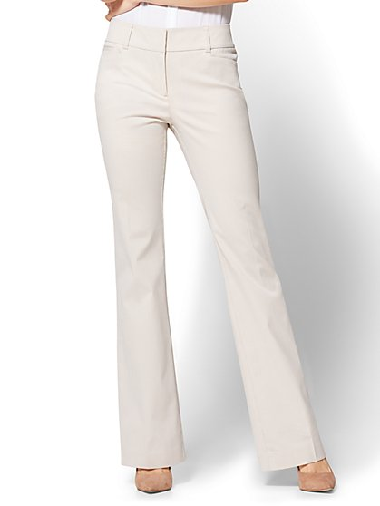 7th Avenue Pant - Bootcut - Signature - Tan Pinstripe - New York & Company