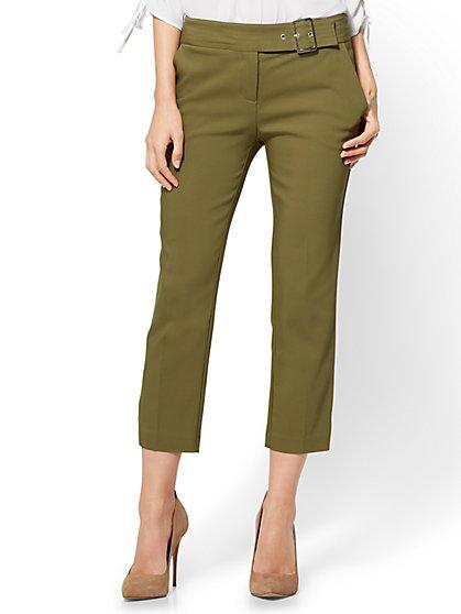 7th Avenue Pant - Crop Straight Leg - Modern - Olive - New York & Company