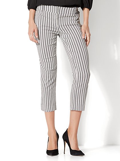 7th Avenue Pant - Crop Straight Leg - Modern - Stripe - New York & Company