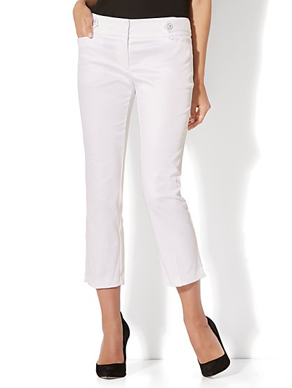 7th Avenue Pant - Crop Straight Leg - Modern - Twill - New York & Company