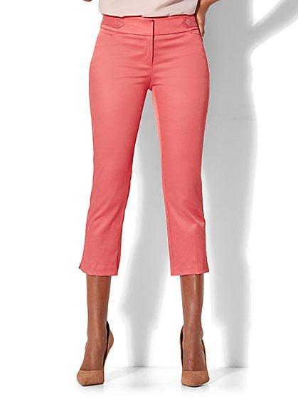 7th Avenue Pant - Crop Straight Leg - Modern - Twill - New York & Company