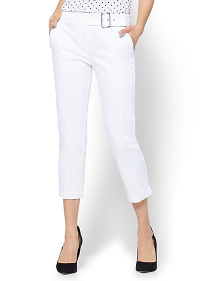 7th Avenue Pant - Crop Straight Leg - Modern - White - New York & Company