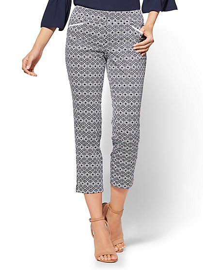7th Avenue Pant - Crop Straight Leg - Signature - Aztec Print - New York & Company