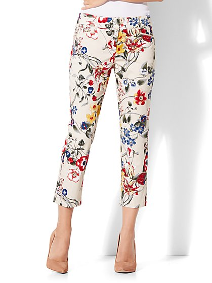 7th Avenue Pant - Crop Straight Leg - Signature - Floral - New York & Company