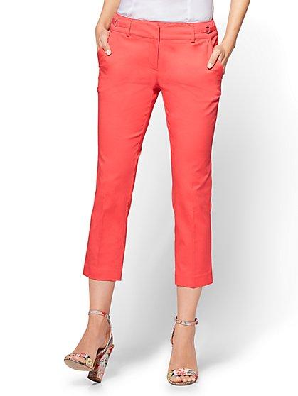 7th Avenue Pant - Crop Straight Leg - Signature - New York & Company