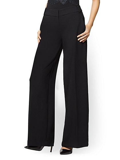 7th Avenue Pant - Culotte - Black - Tall - New York & Company