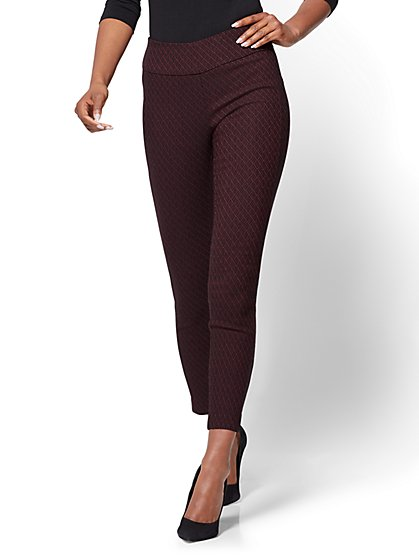 7th Avenue Pant - High-Waist Pull-On Ankle - Burgundy - New York & Company