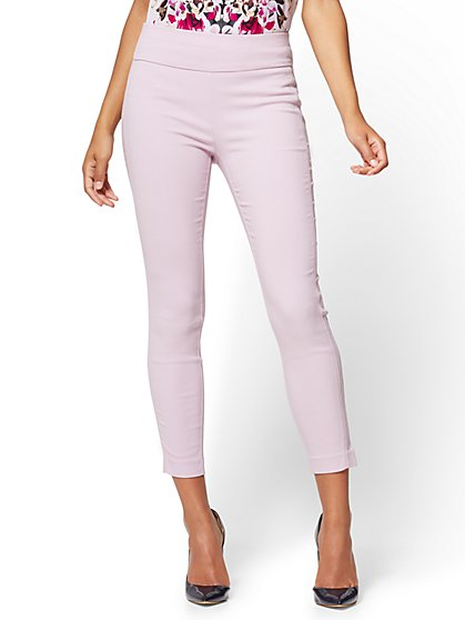 7th Avenue Pant - High-Waist Pull-On Ankle Legging - Lavender - Petite - New York & Company