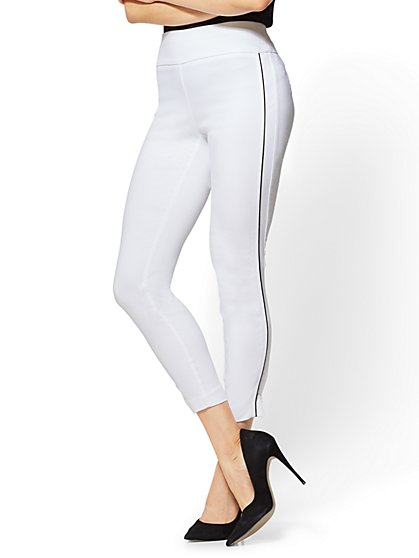 7th Avenue Pant - High-Waist Pull-On Ankle Legging - White - New York & Company