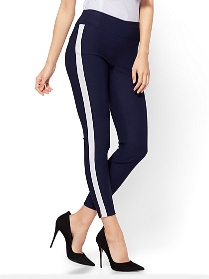 7th Avenue Pant - High-Waist Pull-On Ankle - Ultra Stretch - Navy - Petite - New York & Company