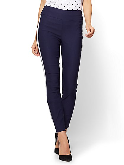 7th Avenue Pant - High-Waist Pull-On Ankle - Ultra Stretch - Navy - Tall - New York & Company