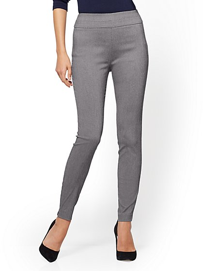 7th Avenue Pant - High-Waist Pull-On Legging - Grey - Tall - New York & Company