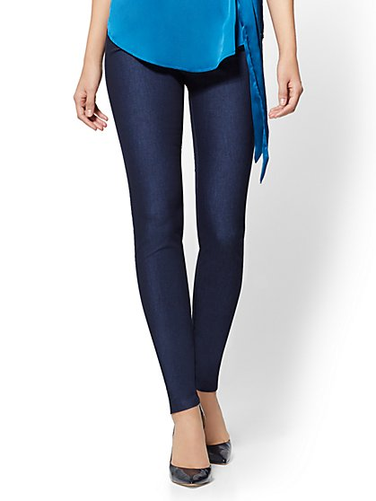 7th Avenue Pant - High-Waist Pull-On Legging - Navy - New York & Company