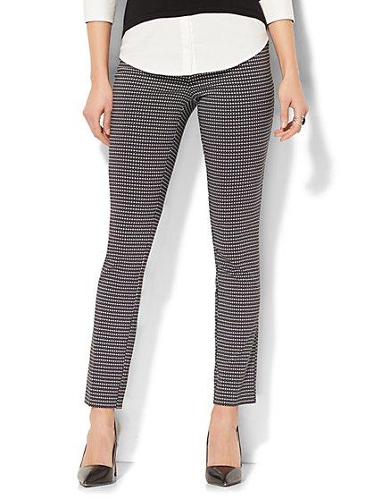 7th Avenue Pant - Legging - Pull-On - Linear Dot Print - New York & Company