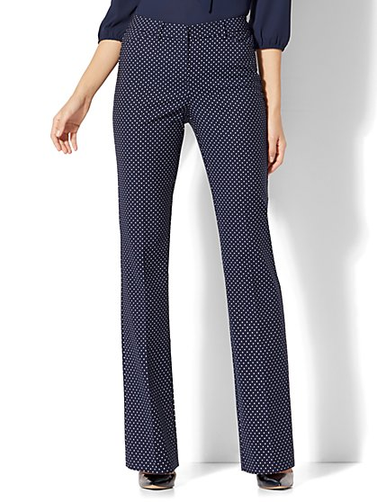 7th Avenue Pant - Mini Bootcut - Modern - Pindot Print - New York & Company