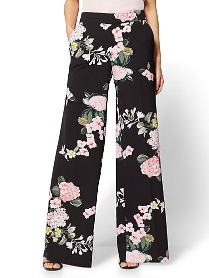 7th Avenue Pant - Palazzo - Floral - New York & Company
