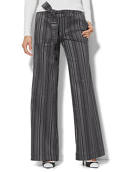 7th Avenue Pant - Palazzo - Modern - Stripe - New York & Company