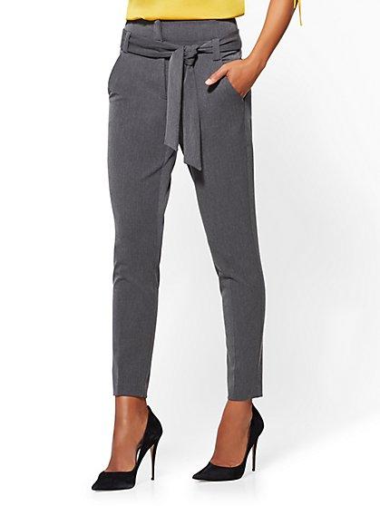 7th Avenue Pant - Paperbag Waist - Slim Leg - SuperStretch - New York & Company