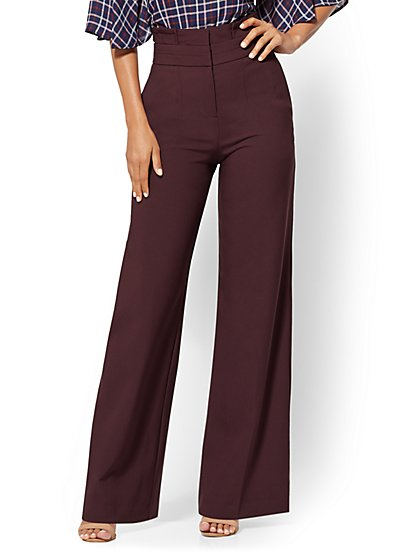 7th Avenue Pant - Petite Paperbag-Waist Palazzo - New York & Company
