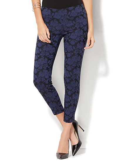 7th Avenue Pant - Pull-On Ankle - Jacquard Print - New York & Company