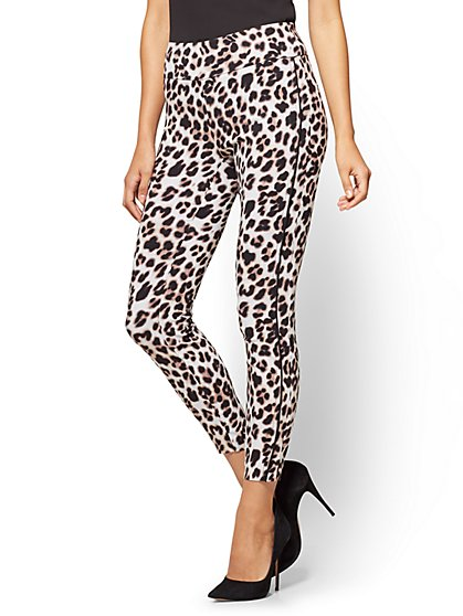 7th Avenue Pant - Pull-On Ankle - Leopard Print  - New York & Company