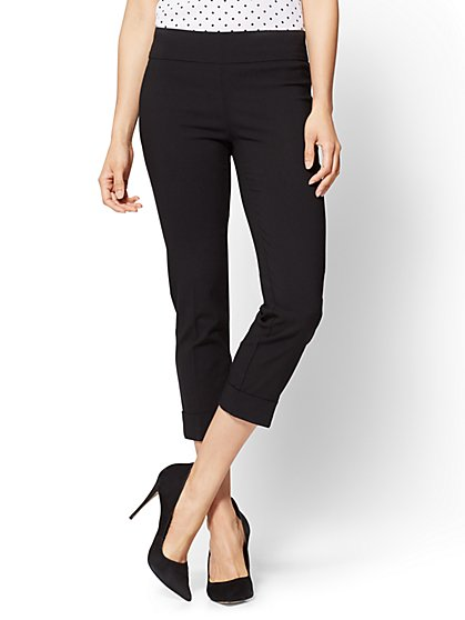 7th Avenue Pant - Pull-On Crop - Legging - Black - New York & Company