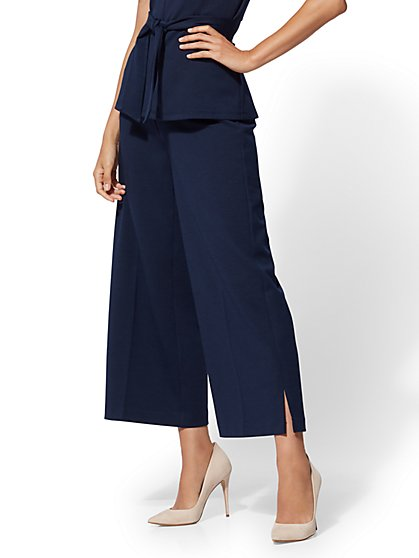 7th Avenue Pant - Pull-On Crop Palazzo - New York & Company
