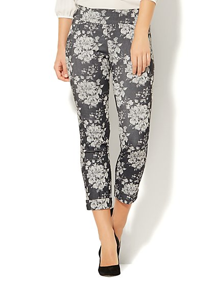 7th Avenue Pant - Pull-On Cuffed Ankle - Modern - Floral - New York & Company