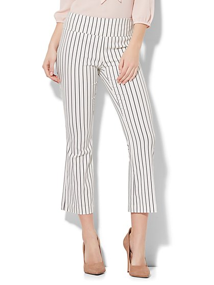 7th Avenue Pant - Pull-On Kick Ankle Pant - Modern - Stripe - New York & Company