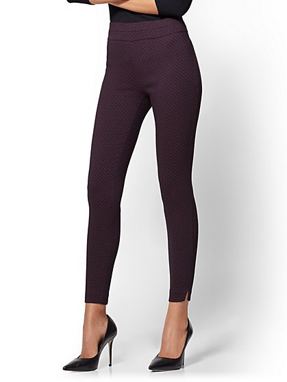 7th Avenue Pant - Pull-On - Slim Leg - Signature - Burgundy - New York & Company