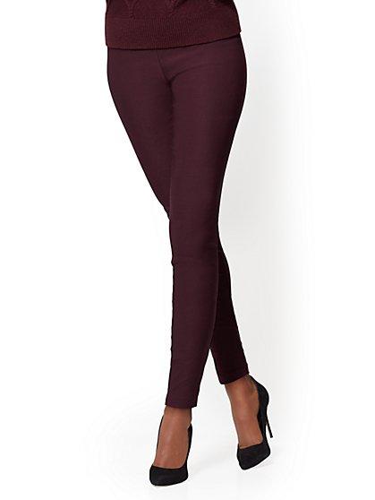 7th Avenue Pant - Pull-On - Slim-Leg - Signature - Red - New York & Company