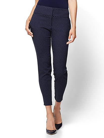 7th Avenue Pant - Slim Ankle - Modern - Dot Print - New York & Company